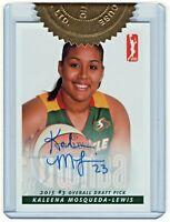 2015 WNBA Autographs #KM Kaleena Mosqueda-Lewis Seattle Storm Draft  1/500