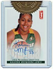 2015 Wnba Authentic Autograph Kaleena Mosqueda-Lewis Seattle Storm Draft 1/500