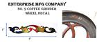 Enterprise MFG. Co. No. 9 Coffee Grinder Mill Wheel Restoration Decal
