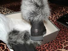 UGG LORA COLLECTION Boots made in Italy black  Ret $515 Women size 9