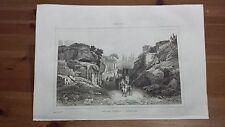"1836 Veduta: Via delle Tombe a Pozzuoli ""Voie des Tombeaux a Pouzzoles"" (Napoli)"