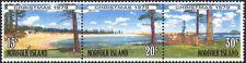 Norfolk Island 1979 Natale/Saluti/alberi/Spiaggia/edifici 3v S-T STP (b210a)