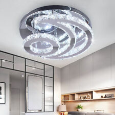 Modern Crystal Led Chandelier Moon Shaped contemporary Ceiling Pendant Light