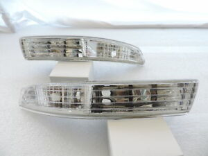For 94-97 Acura Integra Clear Bumper Lights Parking Turn Signal Lamps Pair