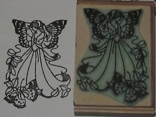 Beautiful Girl with Butterflies rubber stamp by Amazing