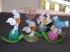 Mwt 4 Christopher Radko Easter Tumbling Bunnies