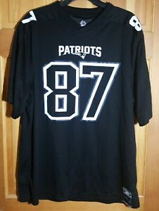 Rob Gronkowski New England Patriots Football Jersey #87 Mens medium Black EUC