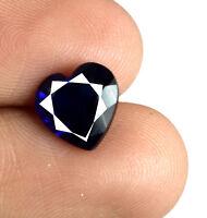 Loose Gemstone Ceylon Blue Sapphire 2 Carat Natural Heart Shape AGSL Certified