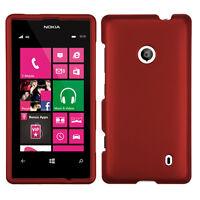 MYBAT Titanium Solid Red Phone case for NOKIA 521 (Lumia 521)