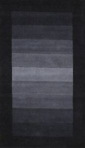 Striped Contemporary Gabbeh Oriental Area Rug Hand-knotted Home Decor 3x5 Carpet