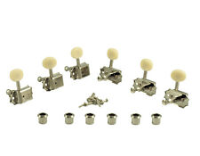 Kluson Vintage 3+3 Oval White Button Nickel 2 row tuners fit Gibson SD9005MNP DR