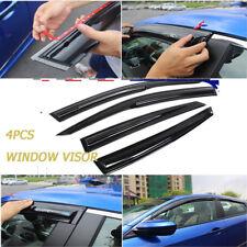 4PCS Window Visor Vent Shade Sun Rain Guard For Honda Civic 4dr Sedan 2016 2017