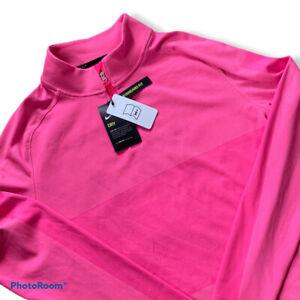 Nike Golf Mens Dri Fit Vapor 1/2 Zip Pullover CU9828 010 Mens Medium M NWT $110