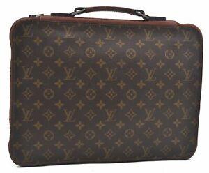 Authentic Louis Vuitton Monogram Briefcase Old Model LV E0485