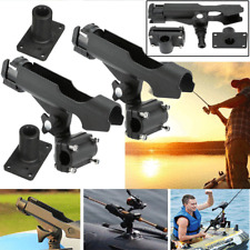 2x Adjustable Side Rail Mount Kayak Boat Fishing Pole Rod Holder Tackle Kit US