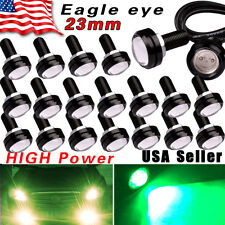 20X Eagle Eye 23mm LED 12V Motor Car Fog Driving DRL Lights High Power 9W Green