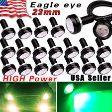 20X Eagle Eye 23mm LED 12V Motor Car Fog Driving DRL Lights High Power 9W Green