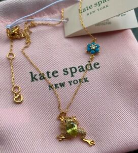 NEW Kate Spade New York Nature Walk Frog Pendant Necklace