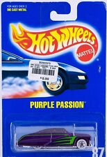 Hot Wheels No. 87 Purple Passion WW Wheels Mint On Card 1991 Red Interior HTF