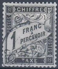 "FRANCE STAMP TIMBRE TAXE N° 22 "" TYPE DUVAL 1 F NOIR "" OBLITERE TB  M306"