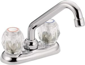 MOEN CHATEAU 4975 2-HANDLE LAUNDRY FAUCET CHROME/ACRYLIC HANDLE NEW IN BOX