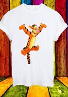 Tigger Tiger The House at Pooh Corner Funny Cartoon Men Women Unisex T-shirt 837