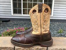 Men's Durango Rebel Square Toe Leather Cowboy Boots Size 11.5 D