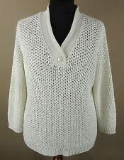 Grobe Damen-Pullover mit V-Ausschnitt aus Polyamid