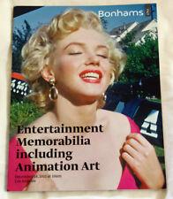 MARILYN MONROE Bonhams AUCTION CATALOGUE Animation Entertainment Memorabilia