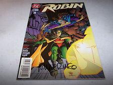 SIGNED MIKE WIERINGO ROBIN #36 DC 1ST PRINT BATMAN'S CRIME FIGHTING PARTNER