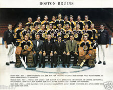 1969-70 BOSTON BRUINS STANLEY CUP CHAMPIONS 8X10 TEAM PHOTO