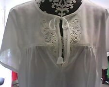 Hand made 100% cotton white night dress, fit size 10 to 14, new with tag