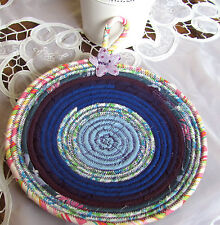 HANDMADE QUILTED POTHOLDER MULTI COLOR COTTON FABRICS PLACEMAT SERVING PLATE