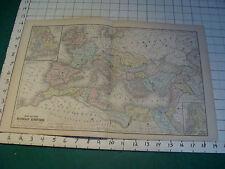 "Vintage Original 1866 Mitchell Map: ROMAN EMPIRE # 49 aprox 19 X 12"""