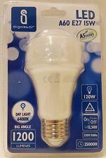 15w ES E27 Energy Saving LED Standard Light Bulb Lamp Daylight Cool White 6500k