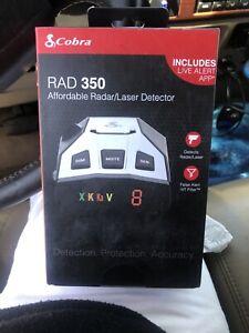 Cobra RAD 350 Laser Radar Detector Long Range False Alert Filter OLED Display