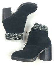 Chinese Laundry Marvel Black Suede Ankle Shoe Boot Bootie Size 39 8.5M Women's
