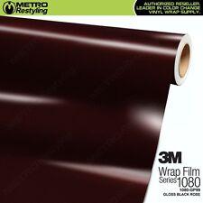 3M 1080 Series GLOSS BLACK ROSE Vinyl Vehicle Car Wrap Film Sheet Roll GP99