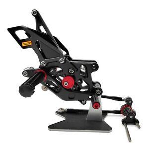 For Honda CBR 600RR 2007 2008 Rearset Adjustable Rear Sets Foot Pegs CNC BLACK