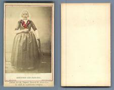Couvée, La Haye, costume des pays bas Nieuwland vintage carte de visite, CDV