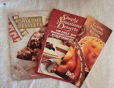 Holiday Dessert Recipe Pamphlets LOT OF 3 VINTAGE