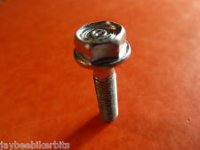M6 x 25 hexagonale Bride Bolt Set Vis Sac de 50 New Bright Zinc Plaqué 6 mm