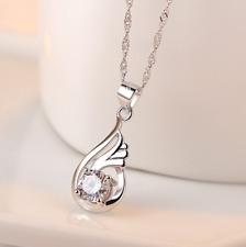 Damen Engel Flügel 925 Stelingsilber 1 Halskette + Anhänger Geschenke Kette NEU