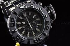 """Invicta 70mm Full Sea Hunter Triple Black """"Devil in the Dark Night"""" Swiss Watch"""
