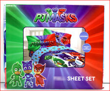 Netflix PJ MASKS Hero Time Sheet Set - Owlette Gekko Catboy Blue - TWIN 🌟NEW🌟