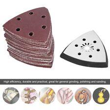 61pcs 90mm 6 Holes Triangle Sanding Pad Sand Paper Oscillating Polish Multi Tool