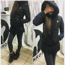 Womens Coat Padded Ladies Quilted Puffer Bubble Hooded Zip Winter Thick Jacket