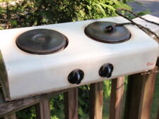 VINTAGE KORD PORTABLE ELECTRIC 2 BURNER COUNTERTOP  STOVE