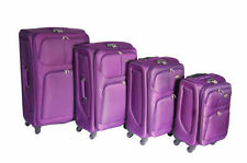 Spinner (4) Unisex Adult Suitcases with Extra Compartments