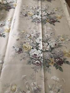 11.75m Charlbury Raisin Linen Union Curtain Fabric RARE Vintage *in four pieces*